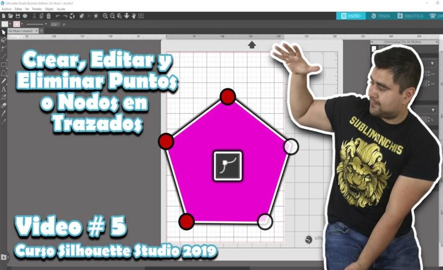 Herramienta para Crear, Editar y Eliminar Puntos o Nodos en Trazados con las cuales puedes modificar objetos mediante nodos o vectores dentro de silhouette studio.