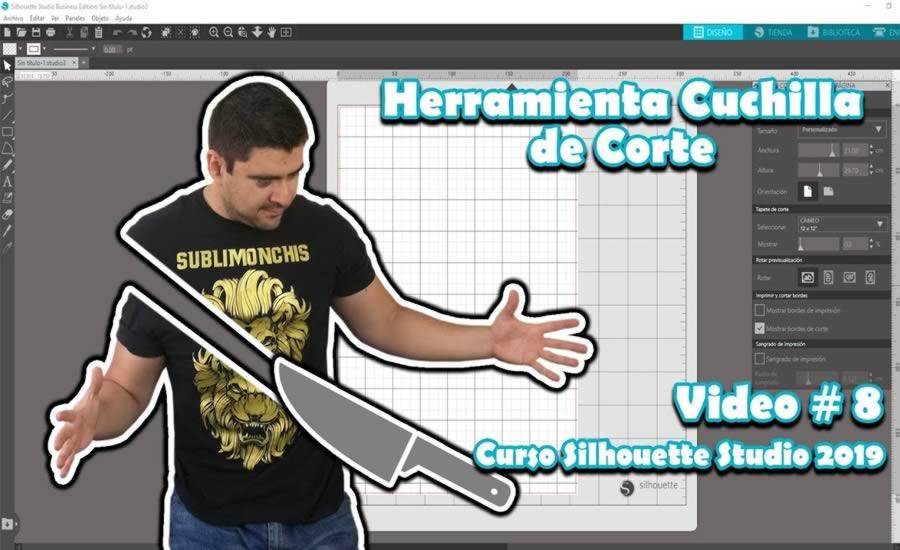 Herramienta Cuchilla de Corte en Silhouette Studio 4.2