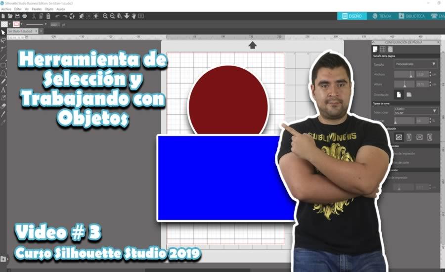 Herramienta Seleccion y Objetos Silhouette Studio 4.2