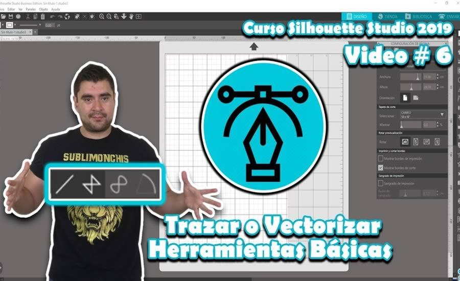Trazar o Vectorizar Herramientas Basicas en Silhouette Studio 4.2