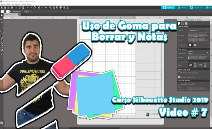 Uso de la Goma para Borrar y Notas en Silhouette Studio 4.2 - Tutorial 7