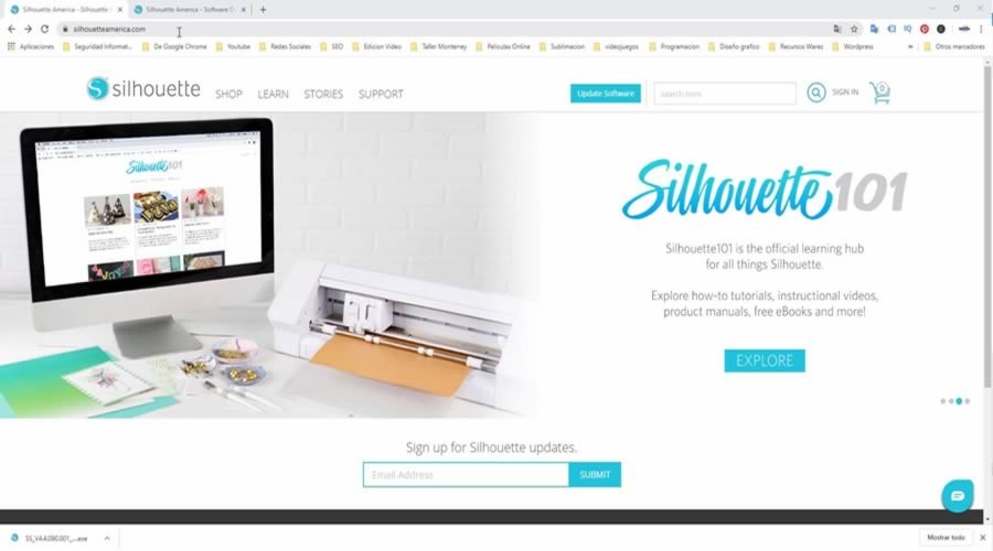 actualizar silhouette studio