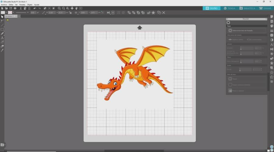 dragon en silhouette studio 4.4
