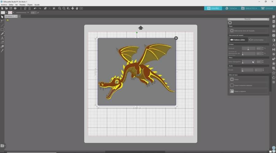 dragon trazado silhouette