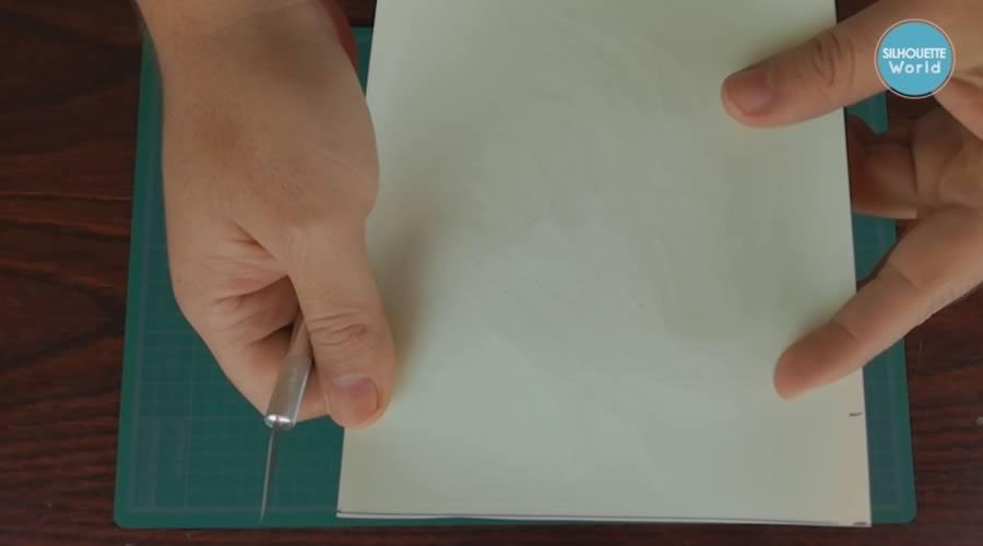 corte de vinil textil de detalle