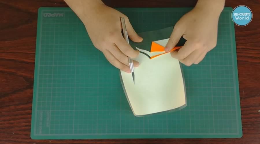 depilado diagonal vinil textil de detalle