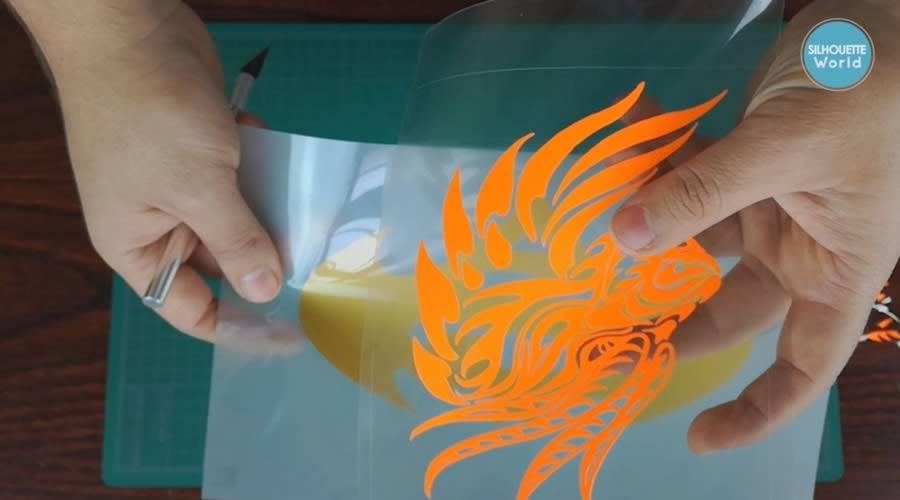 transparencia liner vinil textil de detalle